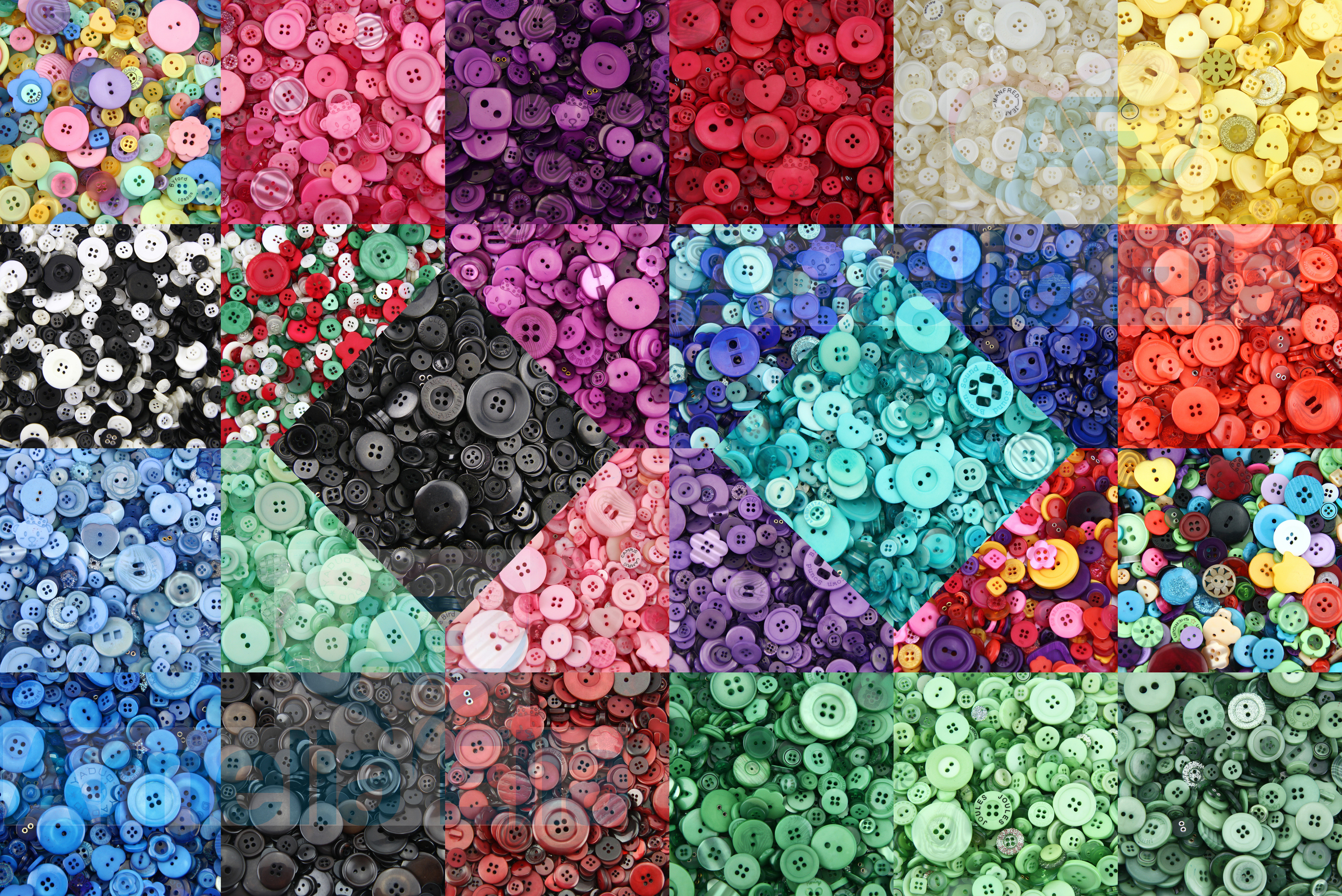 Arts /& Crafts Top Quality PASTEL Buttons Assorted Buttons Plastic Buttons